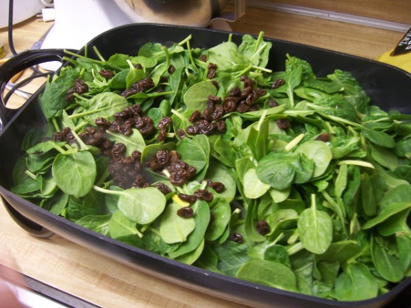 Spinach with Raisins and Pinenuts | Nancy Walker | Healthy Eating